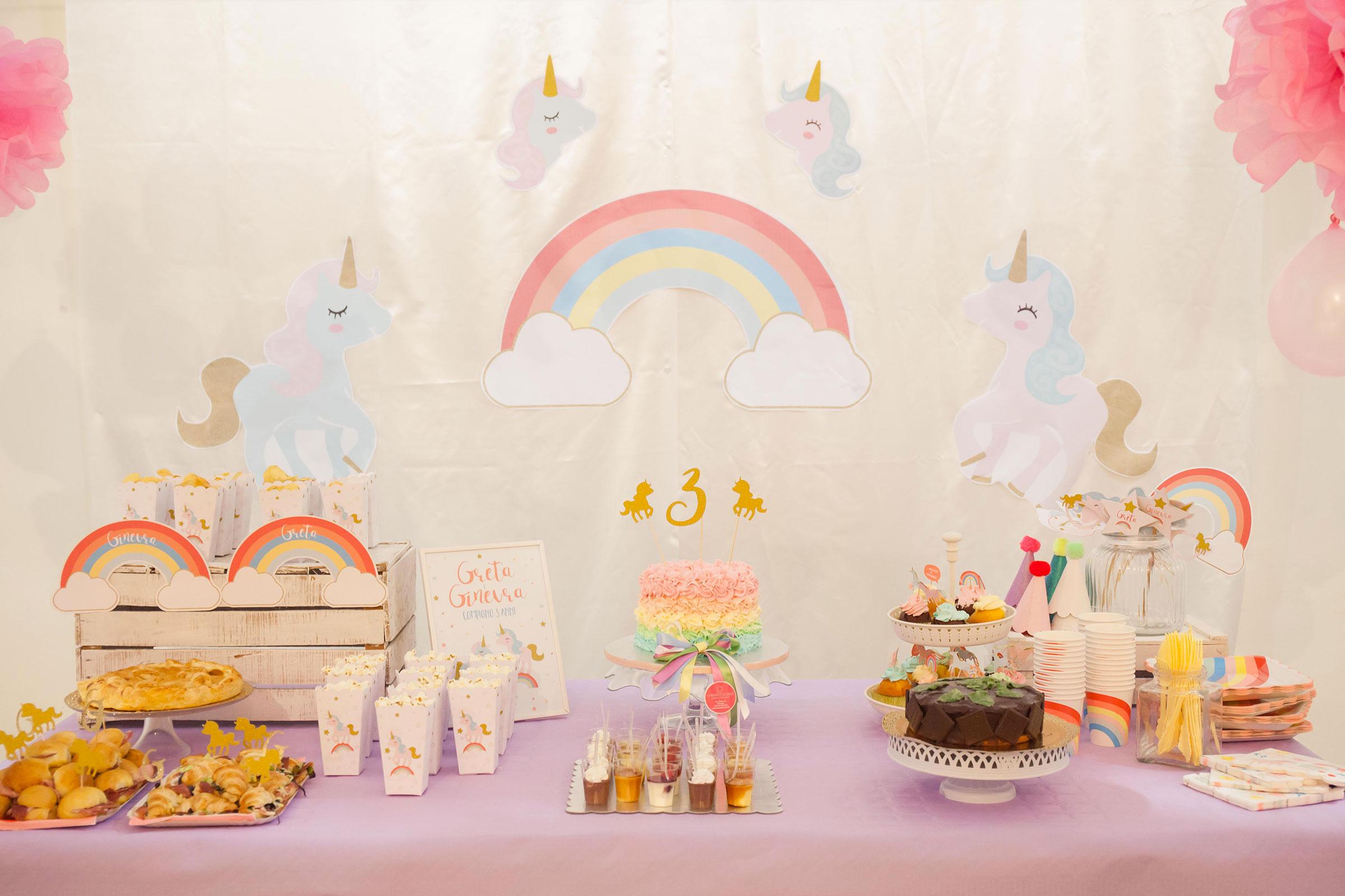 unicorno festa compleanno  Buon compleanno Ginevra e Greta!   Unicorn Party - Sweet as a Candy