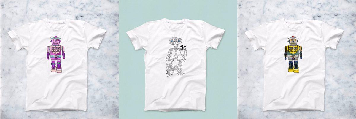 magliette robot ed et